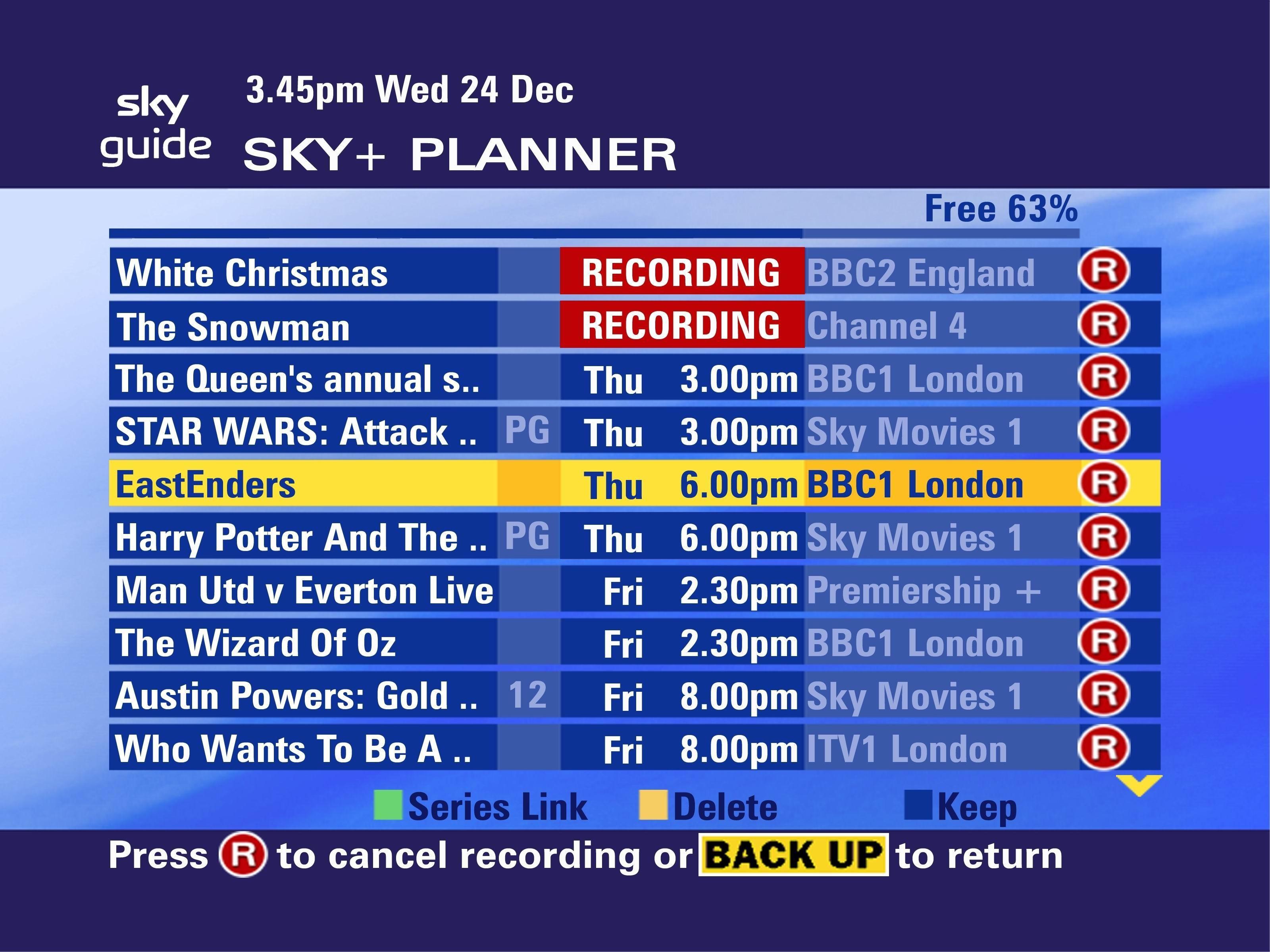 Sky Entertainment Programme